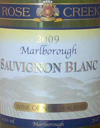Rose Creek Marlborough Sauvignon Blanc