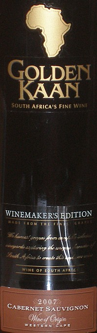 Golden Kaan Winemakers Edition Cabernet Sauvignon