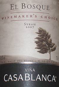 El Bosque Winmakers Choice Shiraz