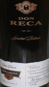Don Reca Limited Release Merlot