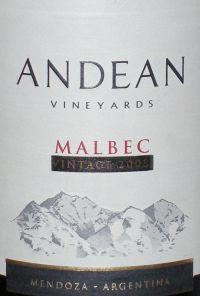 Andean Vineyards Trophy Malbec
