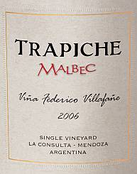 Trapiche Single Vineyard Vina Federico Villafane Malbec