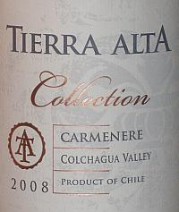 Tierra Alta Collection Carmenere