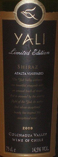 Yali Limited Edition Shiraz